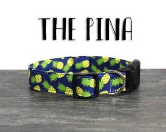 Dog Collar, Blue Pineapple Dog Collar, Pineapple Collar for Dogs, Unique Dog Collar, Summer Dog Collar, Girl Dog Collars, Boy Dog Collars