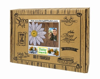 Daisy String Art Kit - String Art Picture Frame, Daisy Picture Frame, Adult Crafts Kit, Mother's Day Gift, DIY Kit, Crafts Kit, Gift for Mom