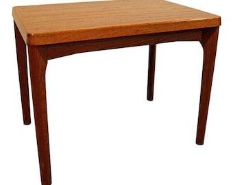 Mid-Century End Table Danish Modern Henning Kjaernulf Vejle Stole Mobelfabrik A/S Teak Side Table