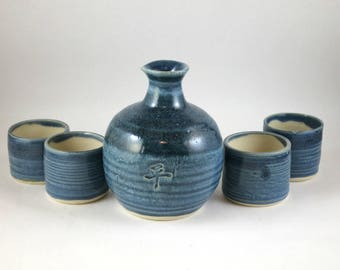 "Sake Set for Four  ""Peace"""