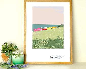 Colourful Tankerton Slopes Landscape Print