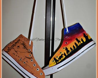 Lord of the Rings custom shoes - Converse