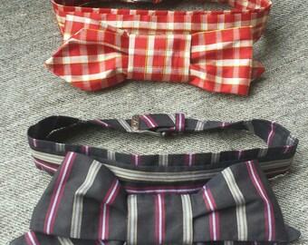 Silk pretied cravat, 2 styles, Civil War, Victorian