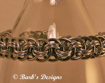 Bracelet Stainless Steel And Aluminum Chainmaille Nice For Men And Women