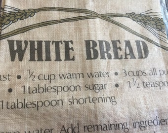 Vintage 1970s Kitchen White Bread Wall Hanging, New in Package, Bread Recipe
