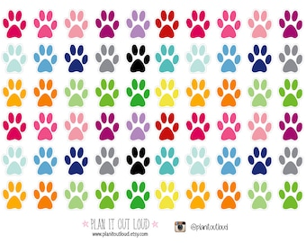 Paw Print Stickers  (planner stickers)