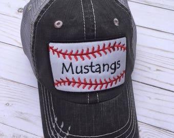 Baseball Fan distressed cap