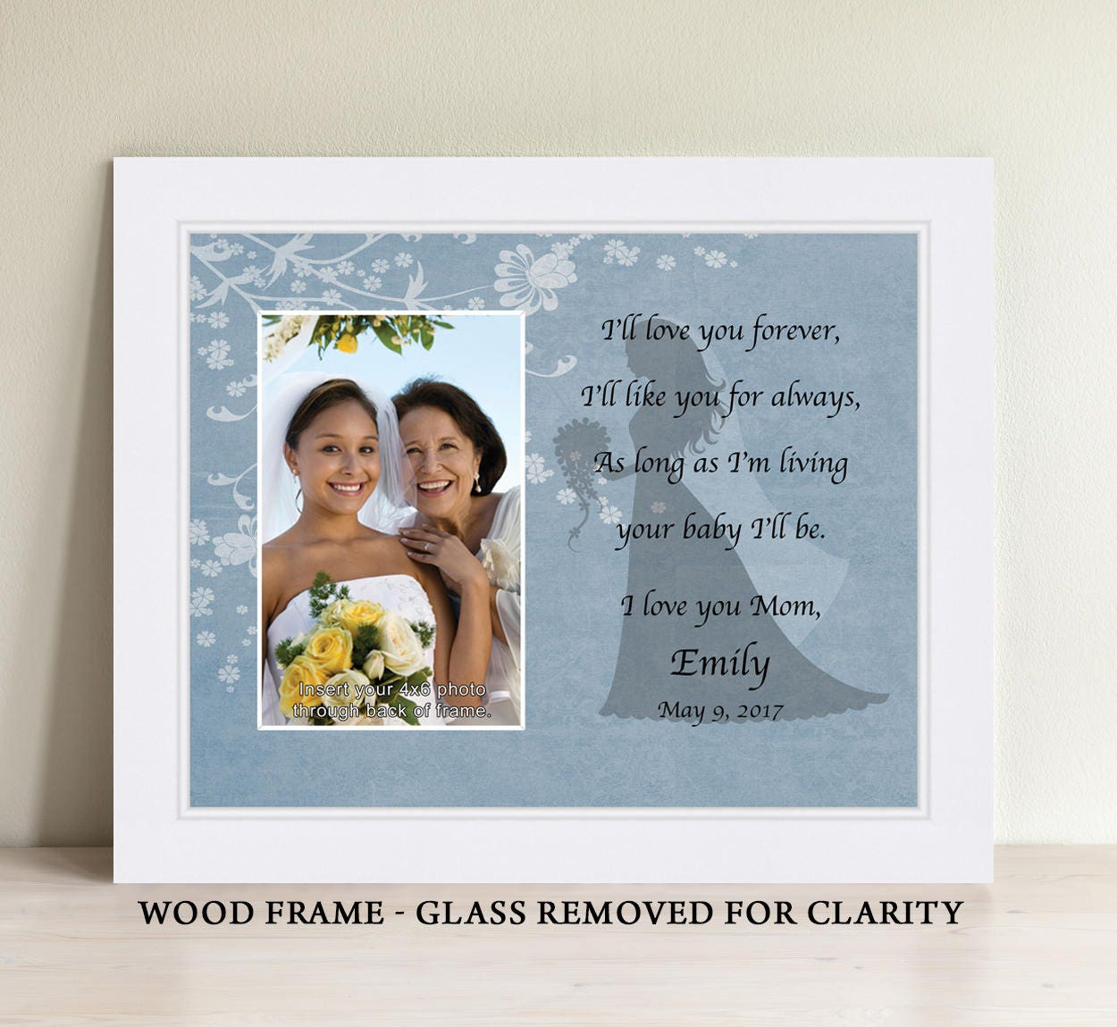 Mother daughter wedding frame bride personalized picture frame zoom jeuxipadfo Choice Image