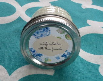 Friendship Candle 4 oz Scented Soy Candle Gift for Friend Soy Wax Candle Friend Message Candle