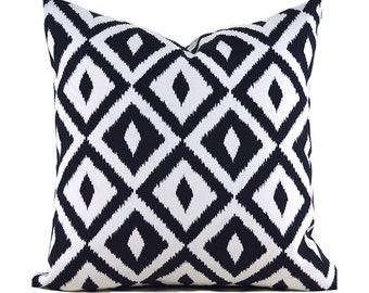 Outdoor Pillows Outdoor Pillow Covers Decorative Pillows ANY SIZE Pillow Cover Black Pillows Terrasol Outdoor Aztec Black