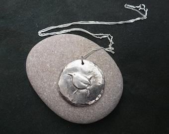Wren Bird necklace or brooch