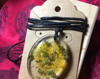 """Weed and """"wax"""" necklace"""
