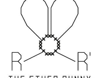 Ether Bunny - Original Cross Stitch Ornament Chart
