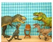 30% OFF SALE Dinosaur decor, T. rex birthday party: Raging Party