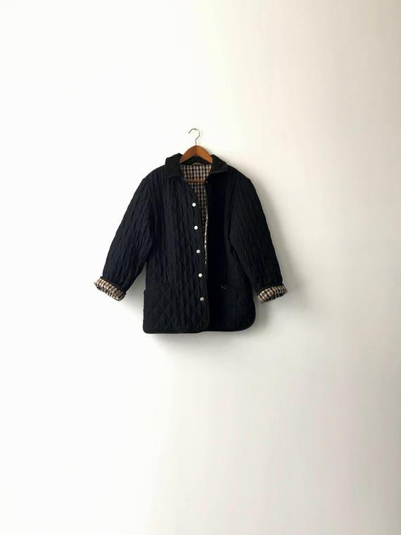 Aquascutum L 90s M Quilted Jacket Black TwR6qS
