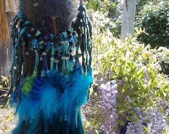 Dreamcatcher Mandala ,native woven,Native American inspired