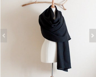 linen wrap shawl / long scarf made to order pick your color / linen long scarf / linen shawl / wedding shawl / holiday gift for her / linen