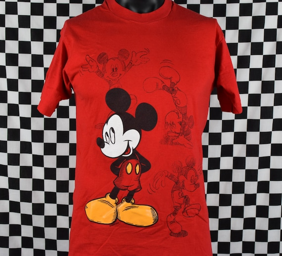 Vintage Retro Men's 90's Mickey Mouse Tee shirt Green Pluto Hipster Mickey Unlimited Jerry Leigh Disney Short Sleeve Large XL EJVOYlOT