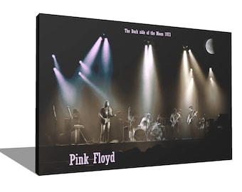 Pink Floyd 1973 100% Cotton Canvas Print Using UV Archival Inks Stretched & Mounted
