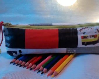 Colored pencil pouch.