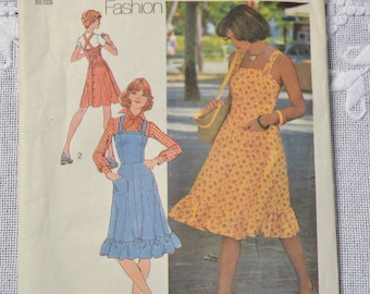 Vintage Simplicity 6926 Sewing Pattern Misses Dress or Jumper Size 10 DIY Sewing Crafts PanchosPorch