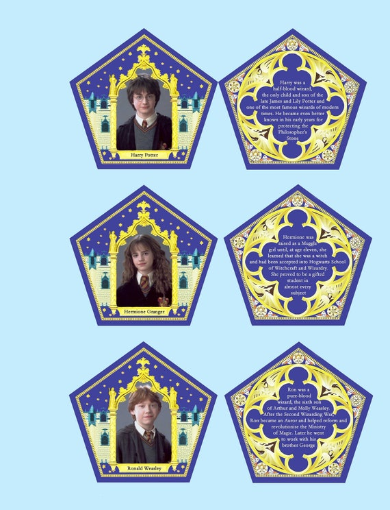 Persnickety image regarding harry potter chocolate frog cards printable