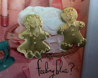 Gingerbread Girl and Boy Ornaments (2 of each)