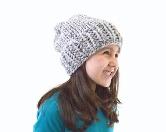 Kids Chunky Slouchy Hat Beanie Toque, Children Beanie, Boys Girls Hat | The Keady
