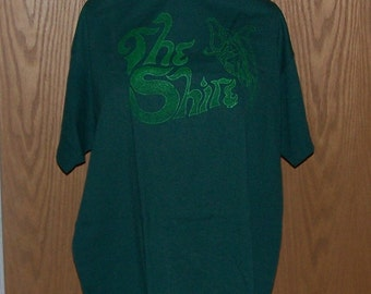 Adult Large Dark Green Shire Fairy T-Shirt. Original artwork, silk screen print