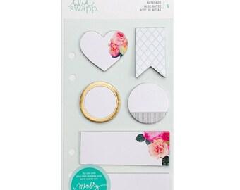 Heidi Swapp Memory Planner Note Pads White 6/Pkg (313360)