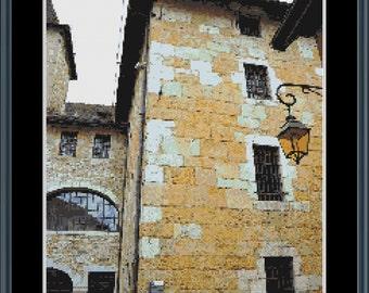 Streets of Annecy cross stitch pattern