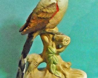 Vintage Delightful Lefton porcelain Scissortail Flycatcher figurine - Oklahoma state bird.