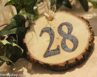 Wedding Table Number Tokens Plaques, Mason Jar Decor Rustic Table Seating Display