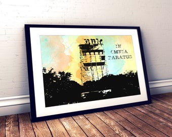 Gilmore Girls In Omnia Paratus Watercolor Quote Poster Rory Life and death brigade bedroom office wall  Quotes Ready for Anything