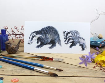 Greetings Card 'Barley, Willow and Scrumpet'