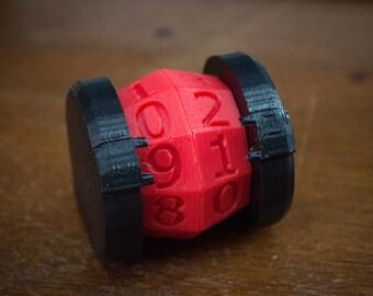 Life Counter 3D Printed Custom Colors