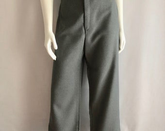Vintage Women's 70's Levi's-Bend Over Pants, Gray, High Waisted, Tapered Leg (XL)