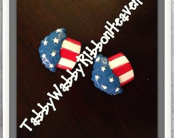 Sparkler Cup Cakes Patriotic style 2 pcs Resins TWRH