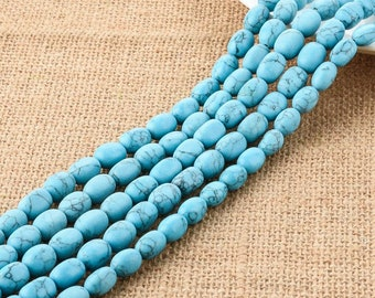 Turquoise Gemstone Barrel Beads 8*12MM for DIY Jewelry Making