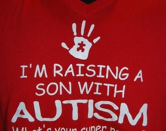 Raising a child with Autism Vneck