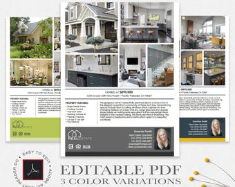 Real Estate Flyers Etsy - Commercial real estate brochure template