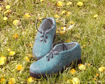 Eco wool shoes,Shoes,Women shoes,Felt,Wool felted boots, Wool shoes, Felted boots, Outdoor boots / Indoor boots,  handmade shoes,women boots
