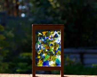 Sun Catcher Freestanding Kaleidoscope Stained Glass Suncatcher, Large Size