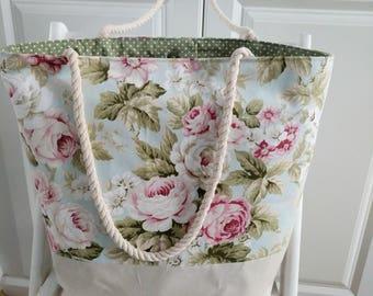 Holiday tote/ beach tote/ summer tote bag