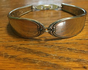"Antique Silverware Bracelet 7 1/4"""