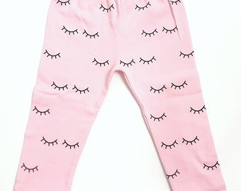 "Eyelash ""Beauty Sleep"" Print Leggings"