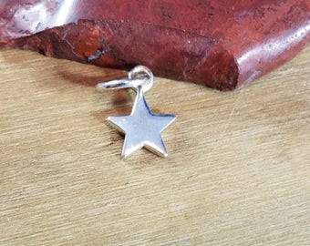 Tiny Sterling Silver Star Charm, Celestial Charm, Charm Bracelets, Tiny Charm,Star, Moon and Stars, Astronomy Jewelry, Astrological Charm