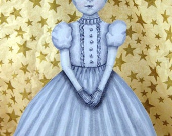 The Ghost Girl Ornament - Halloween Ornament - Danse Macabre Collection - Halloween Ballerina Ornament - Hand Painted Wood Ornament