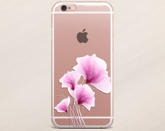 iPhone X Case iPhone 6s Case Flower iPhone 7 Plus Case Samsung Galaxy S8 S7 Floral Case iPhone 5s Case iPhone 6 Case iPhone 8 Case Clear