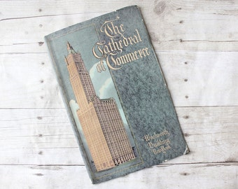 The Cathedral of Commerce Book / The Woolworth Building New York Paperback / 1921 Antique Book / Art Deco Illustration